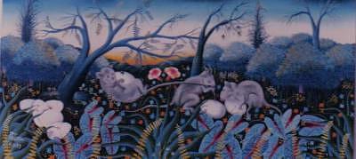 Lafontaine Painting - Lafotaine by Frantz Petion