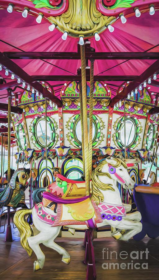 Lafreniere Carousel -nola- Painted Photograph