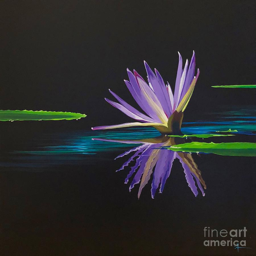 Waterlily Painting - Lagan Love by Hunter Jay