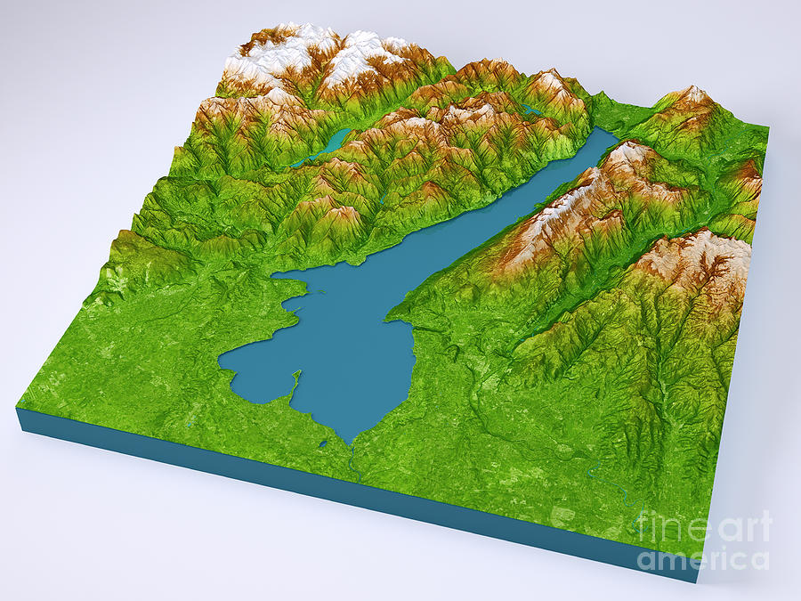 Lago di garda 3d model color topographic map on blue digital art by lago di garda digital art lago di garda 3d model color topographic map on blue gumiabroncs Image collections
