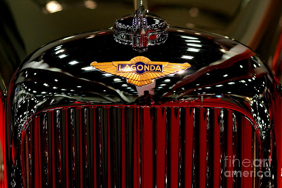 Lagonda Photograph - Lagonda Badge by Wingsdomain Art and Photography
