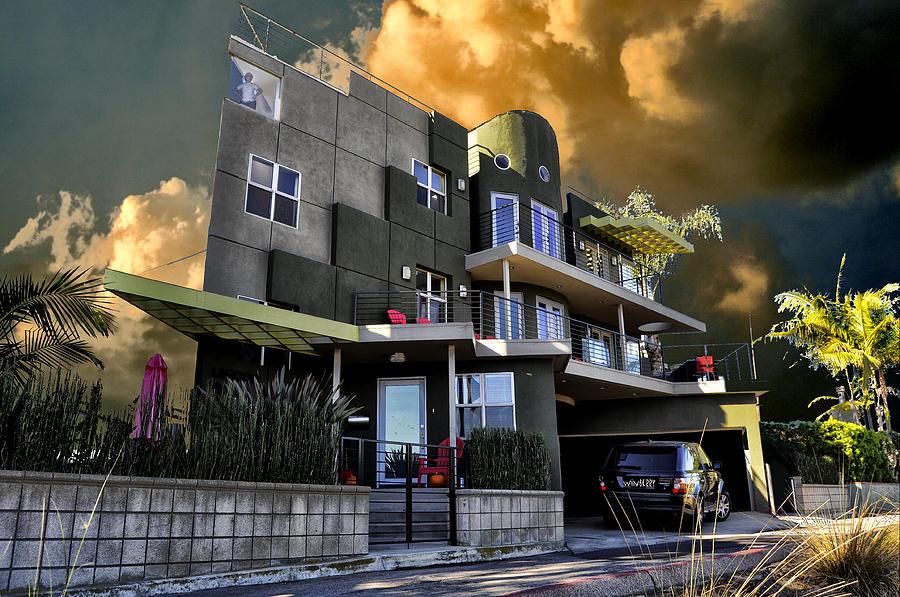 Long Beach Digital Art - Lagoon House by Bob Winberry