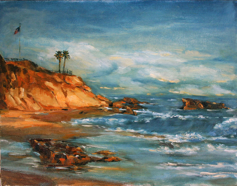 Landscape Painting - Laguna Beach by Bin Feng