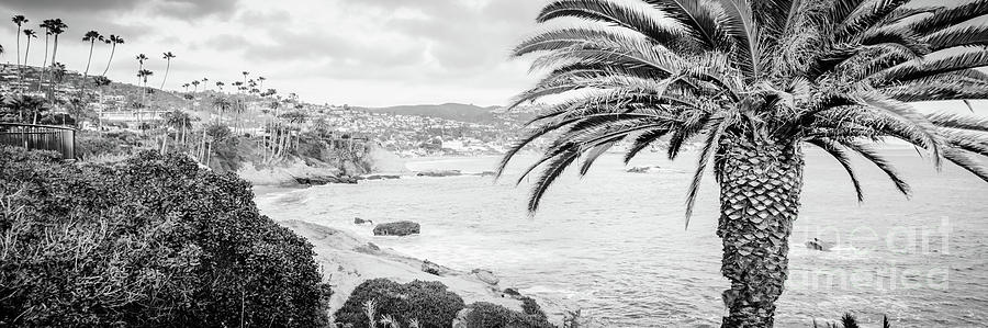 America photograph laguna beach black and white panorama photo by paul velgos
