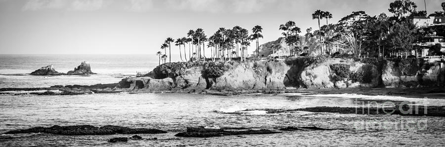 America photograph laguna beach black and white panoramic picture by paul velgos