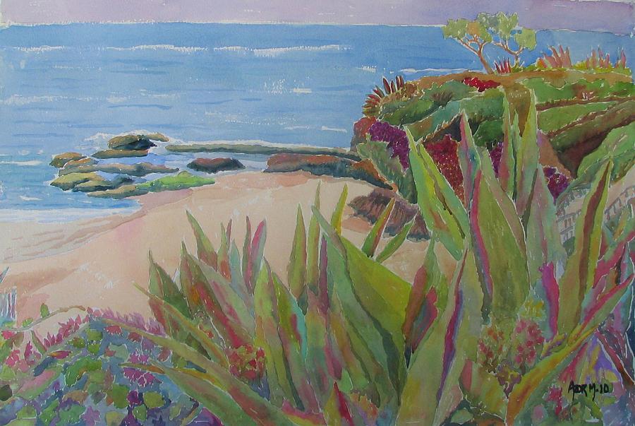 Laguna Beach Landscape Painting - Laguna Beach Landscape by Azor Martinez