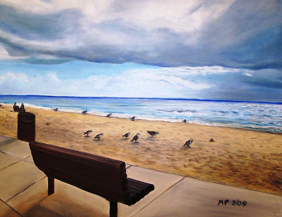 Seascape Painting - Laguna Beach On A Stormy Day by Madeleine Prochazka