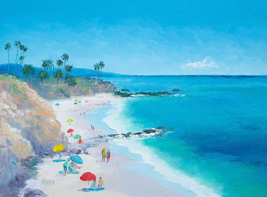 Laguna Beach Painting Painting - Laguna Beach Umbrellas by Jan Matson
