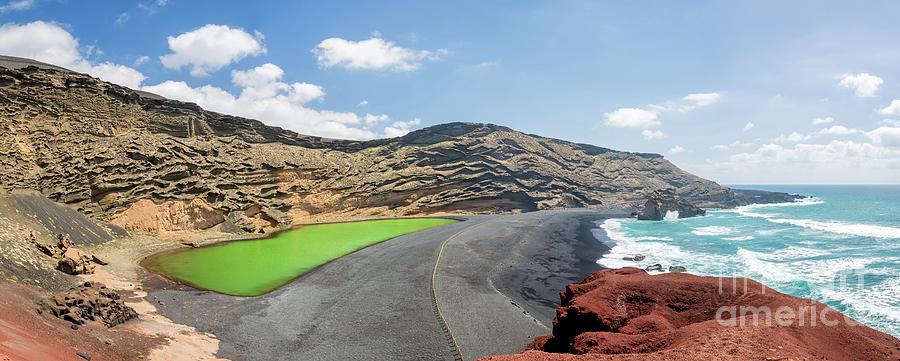 Lanzarote Photograph - Laguna Verde by Delphimages Photo Creations