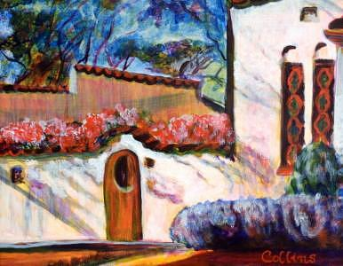 Historic Home Painting - Lahacienda by C D  Collins