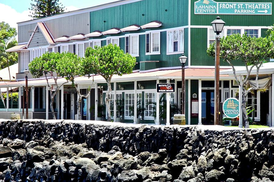 Lahaina Photograph - Lahaina Center on Front Street by Kirsten Giving