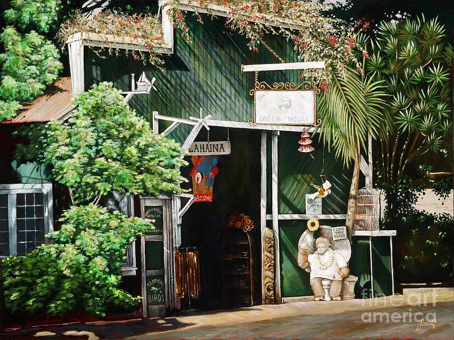 Acrylic Painting - Lahaina Hoolealea by Sandra Blazel - Printscapes