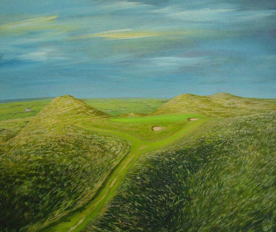 Lahinch Golf Club Painting - Lahinch Eighth Hole by Eamon Doyle
