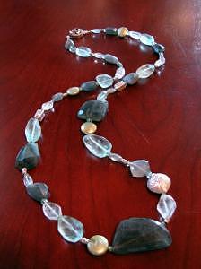 Labradorite Jewelry - Laila Long Labradorite Necklace by MIchelle LaCoille