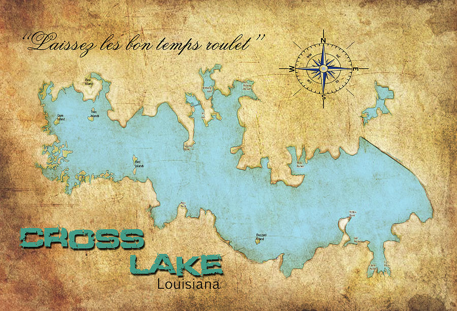 Laissez Les Bon Temps Roulet Cross Lake La Digital Art By Greg