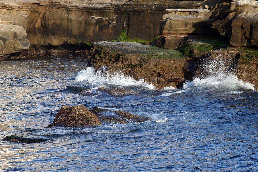 Ocean Photograph - Lajolla Rocks by Margie Wildblood