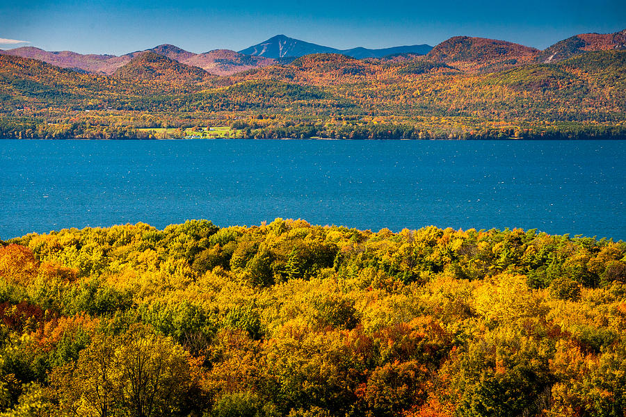 Autumn Photograph - Lak Champlain In Autumn by Robert Davis