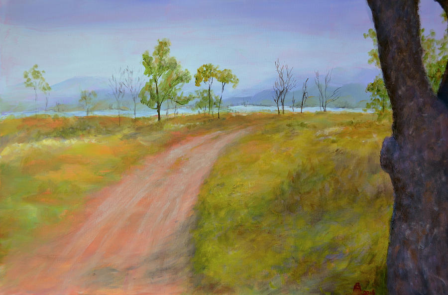 Lake Awoonga From The Bush Camp Painting