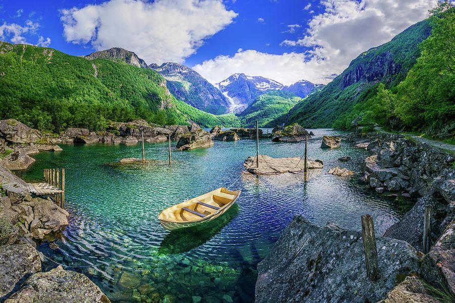 Lake Bondhusvatnet by Dmytro Korol