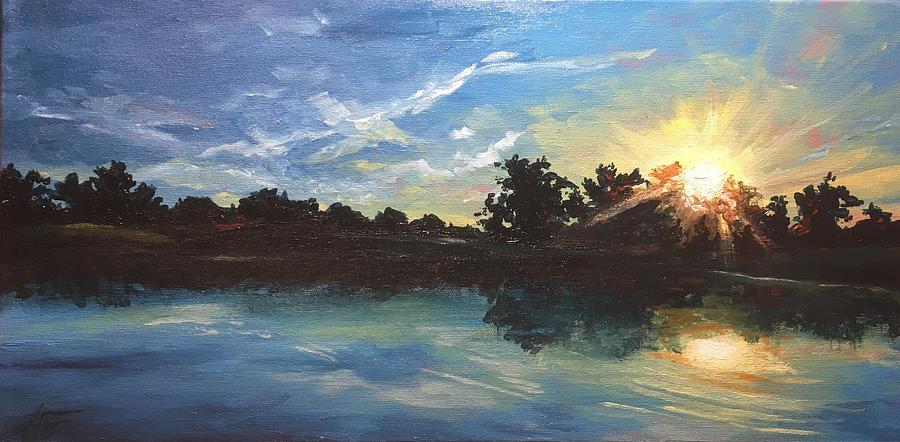 Landscape Painting - Lake Bridgeland by Allison Fox