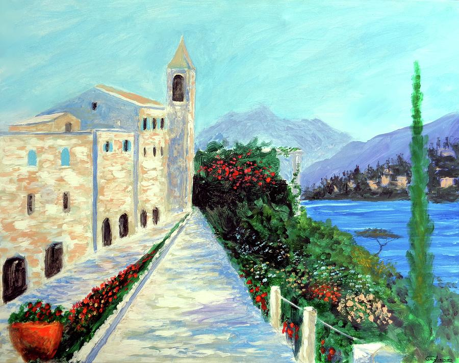 Italy Painting - Lake Como Colors  by Larry Cirigliano