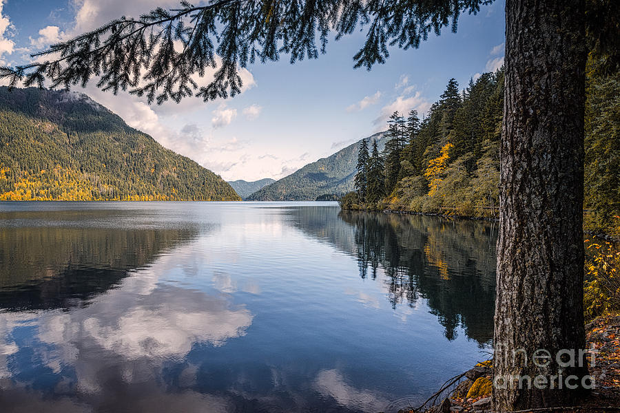 Autumn Photograph - Lake Crescent 1 by Al Andersen