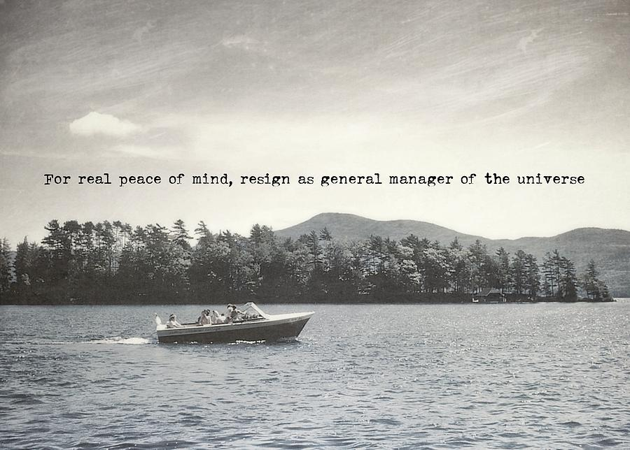 Vintage Photograph - Lake Cruise Quote by JAMART Photography