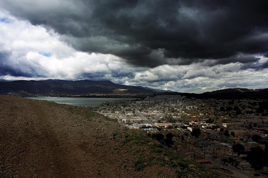 Landscape Photograph - Lake Elsinore Waiting by Richard Gordon