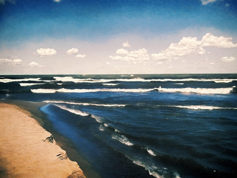 Lake Erie Photograph - Lake Erie Whitecaps  by Shawna Rowe