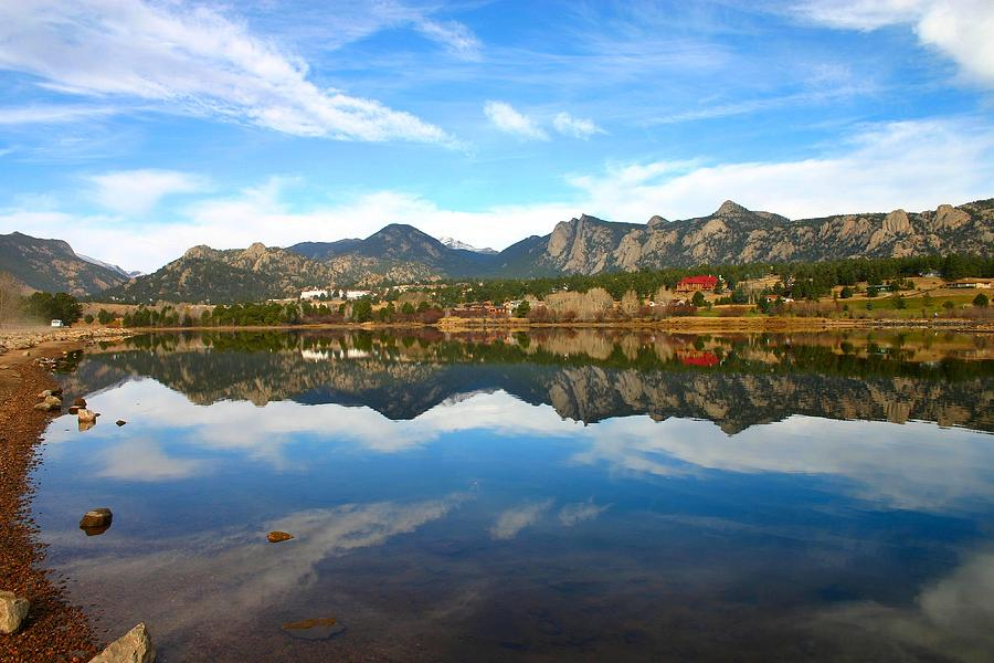Scenery Photograph - Lake Estes Reflections by Perspective Imagery