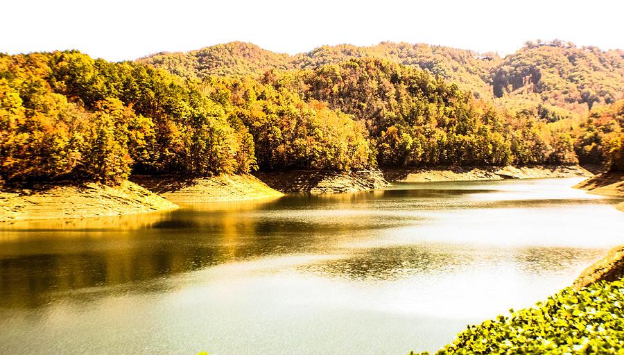 North Carolina Photograph - Lake Fantana In The Mountans by Tom Zukauskas