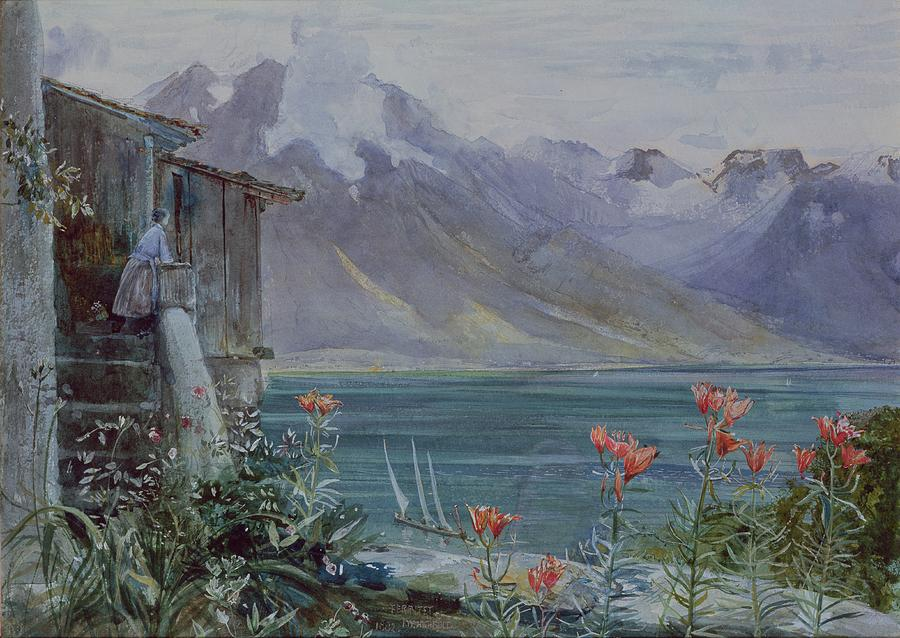 Lake Geneva Painting - Lake Geneva by John William Inchbold