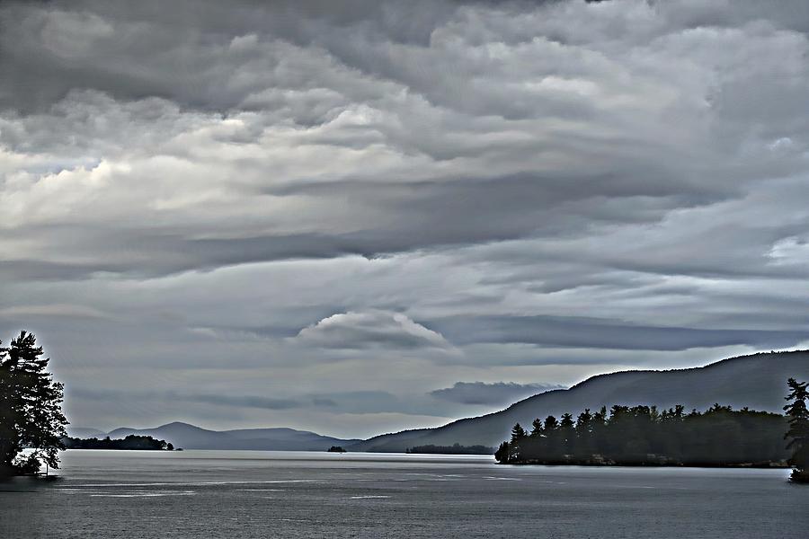Lake George Rain and Clouds by Russ Considine