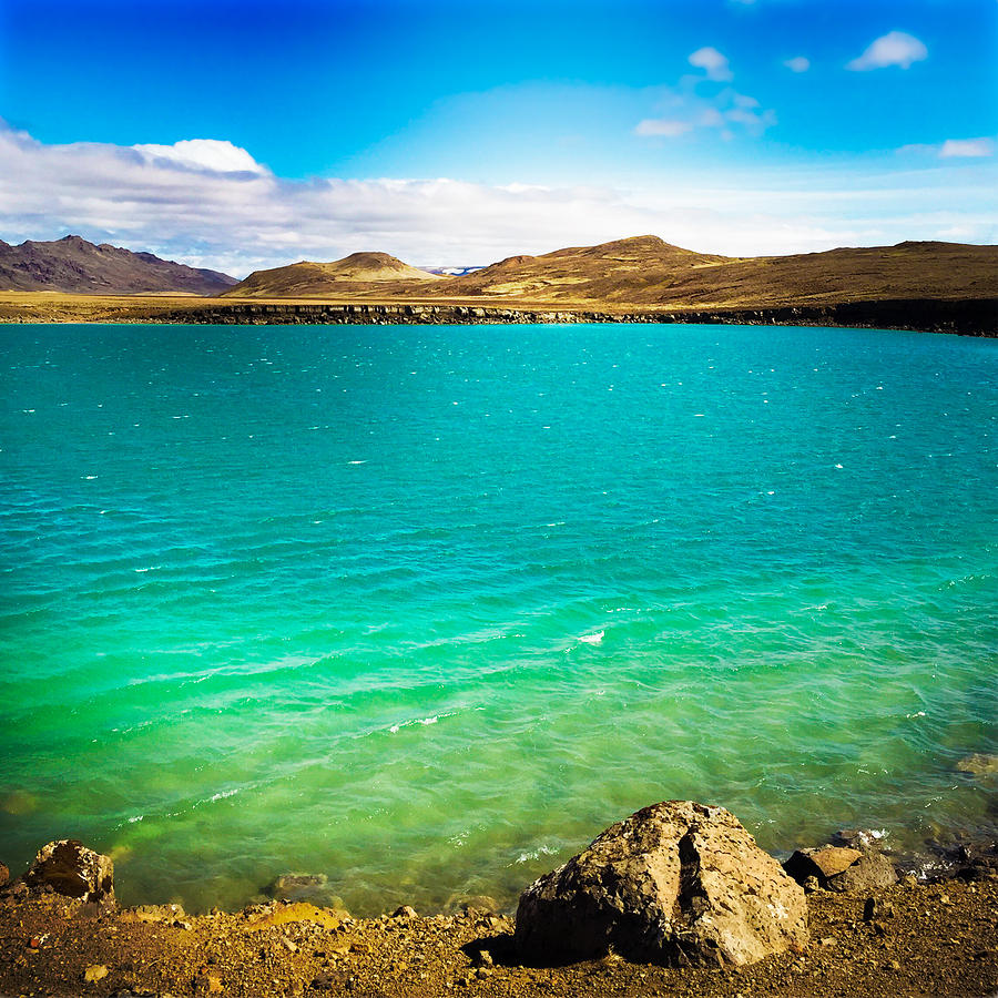 Iceland Photograph - Lake Graenavatn In Iceland Green And Blue Colors by Matthias Hauser