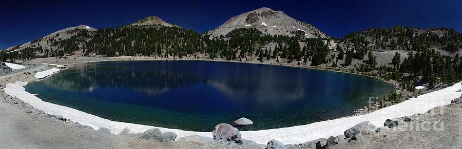 Mirror Photograph - Lake Helen Lassen  by Peter Piatt