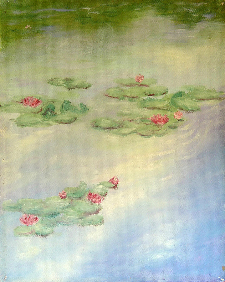 Drifting Painting - Lake Highland Lilies by Diane Martens