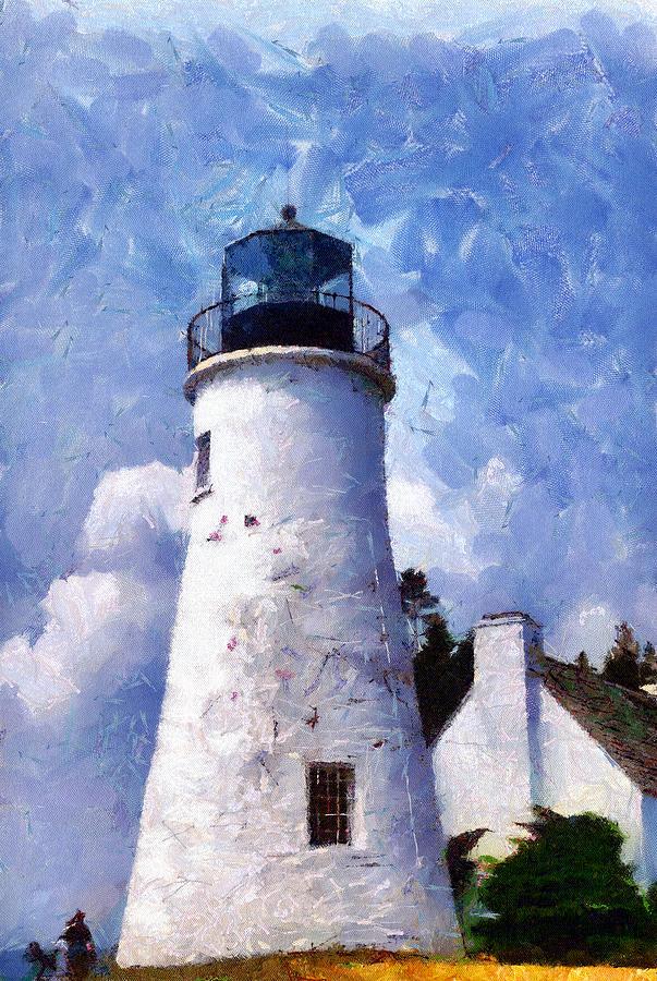 Lighthouse Photograph - Lake Huron Lighthouse by Darrell Foltz