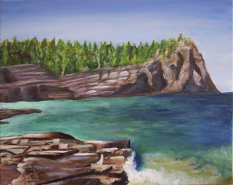 Seascape Painting - Lake Huron by Silvia Philippsohn