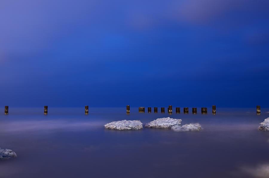 Winter Photograph - Lake Ice Chicago by Steve Gadomski