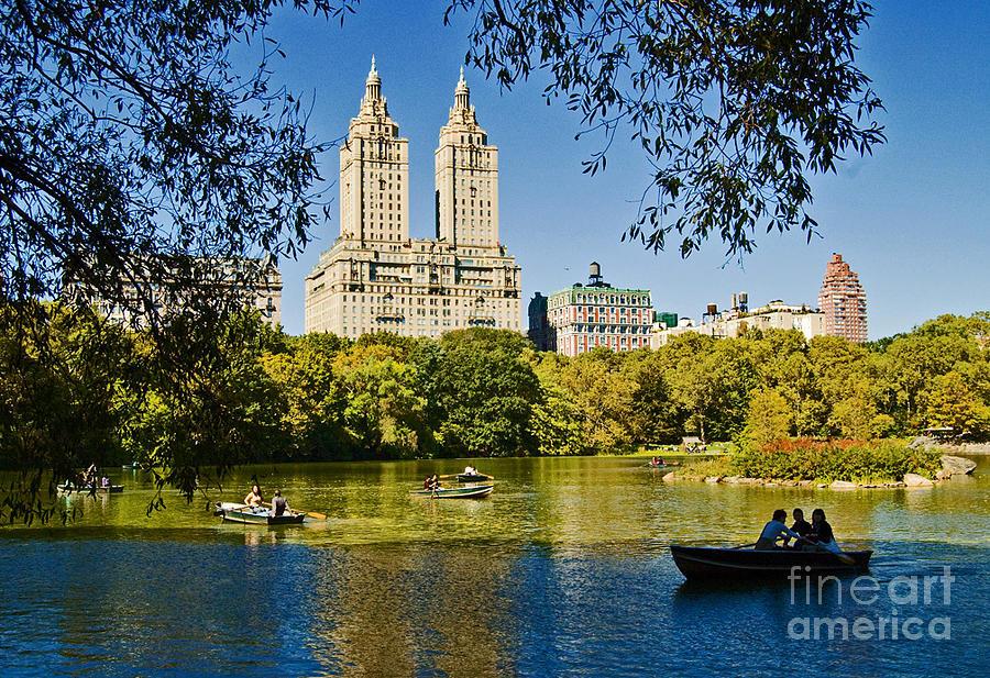 Central Park Photograph - Lake In Central Park by Allan Einhorn