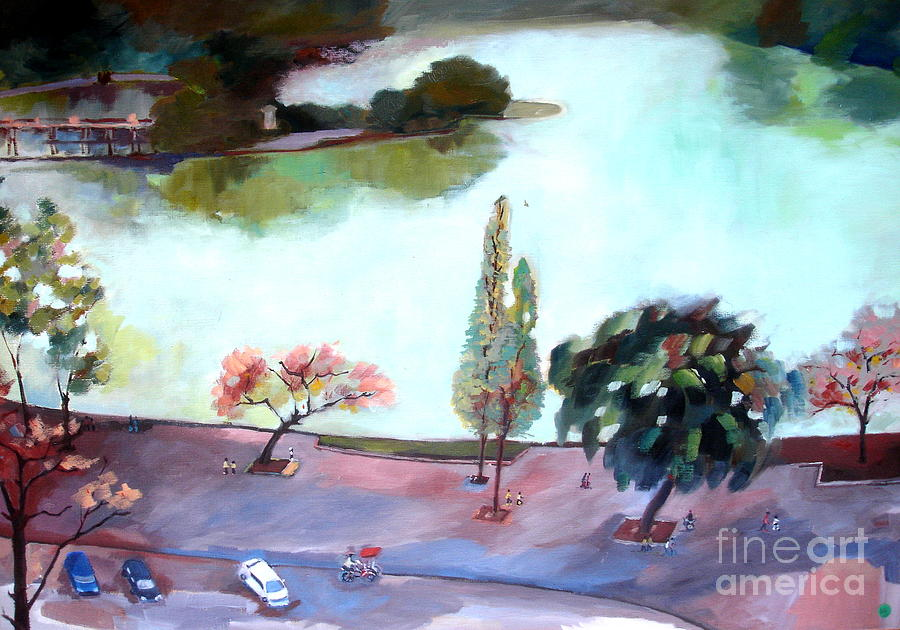 Lake In Hanoi Painting
