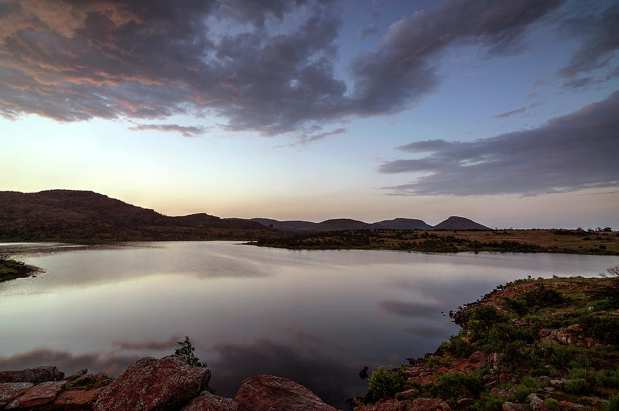 Lake in the Wichita Mountains  by Todd Aaron