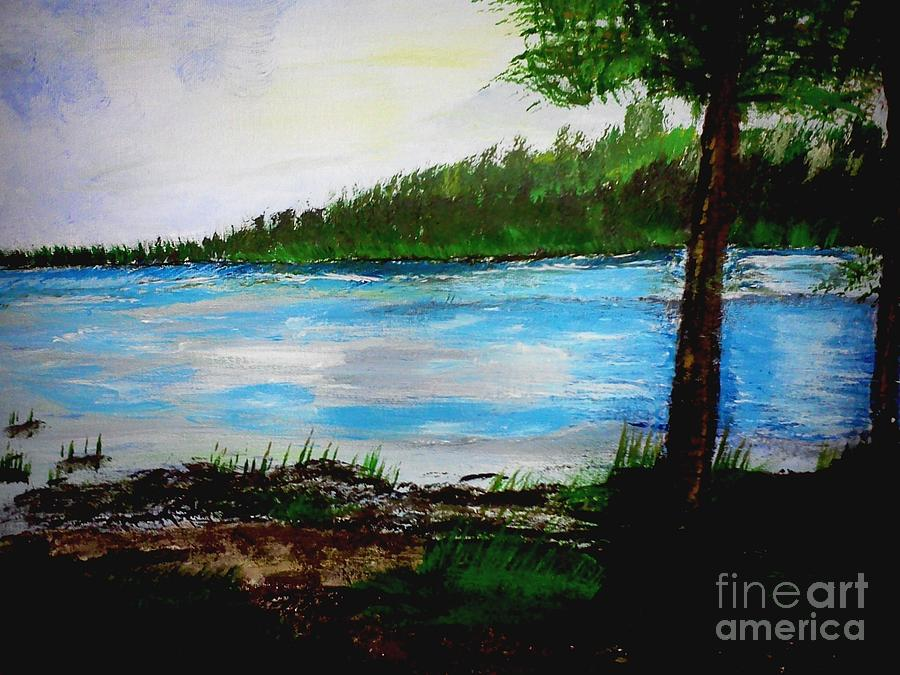 Lake in Virginia the Painting Painting by Jimmy Clark