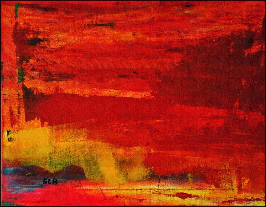 Abstract Mixed Media - Lake Isle Of Innisfree Three by Scott Haley
