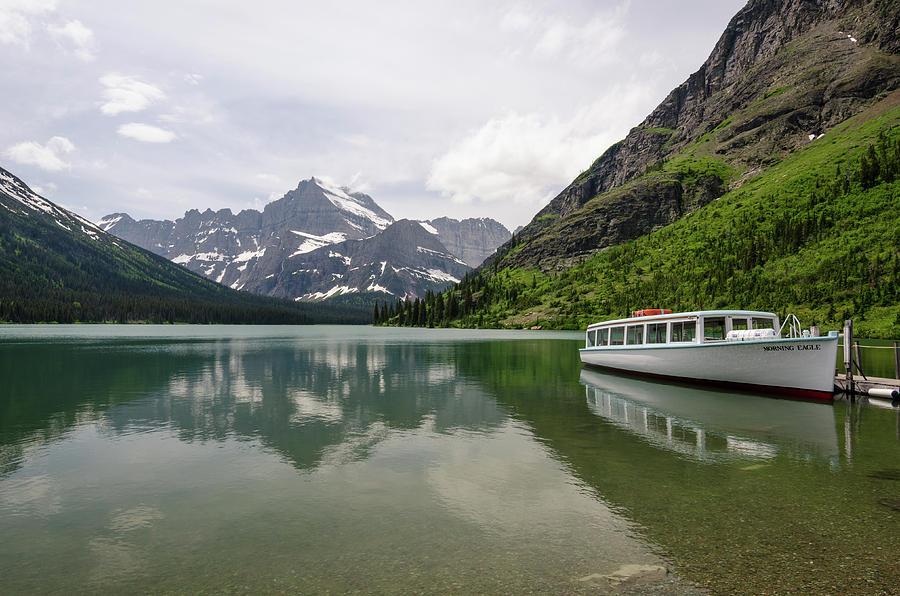 Glacier Photograph - Lake Josephine by Margaret Pitcher