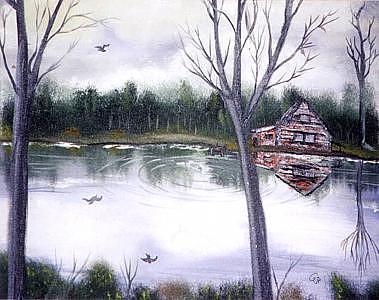 Landscape Painting - Lake La Luna by Pamela Benjamin