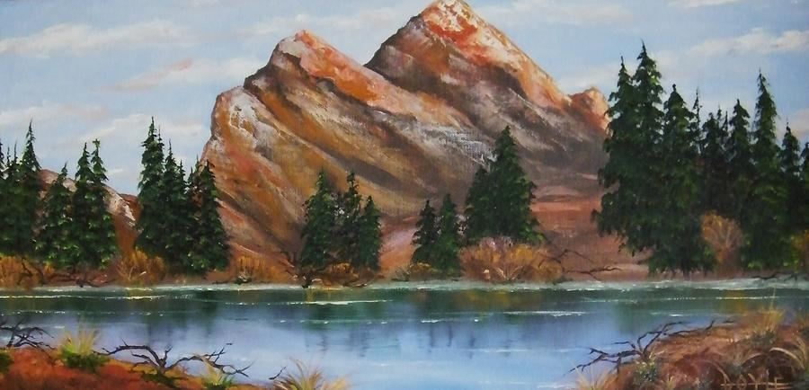 Lake Painting by Larry Doyle