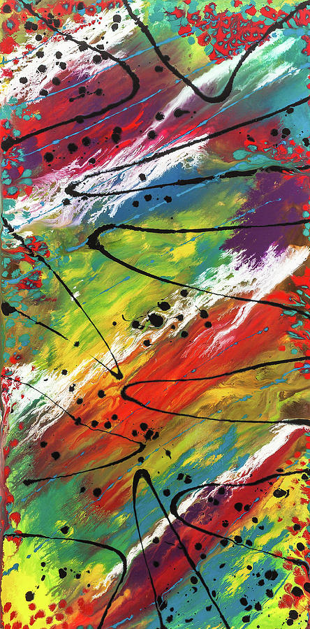 Abstract Painting - Lake Leopard by Dianne Bartlett