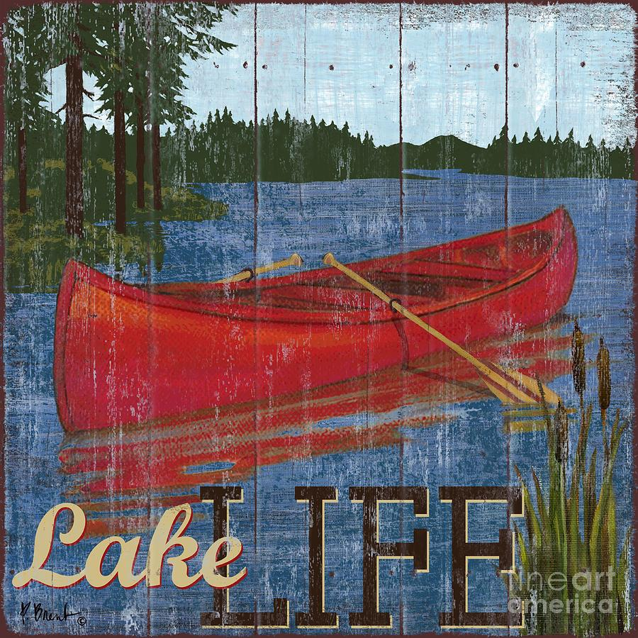 Lake Painting - Lake Living II by Paul Brent