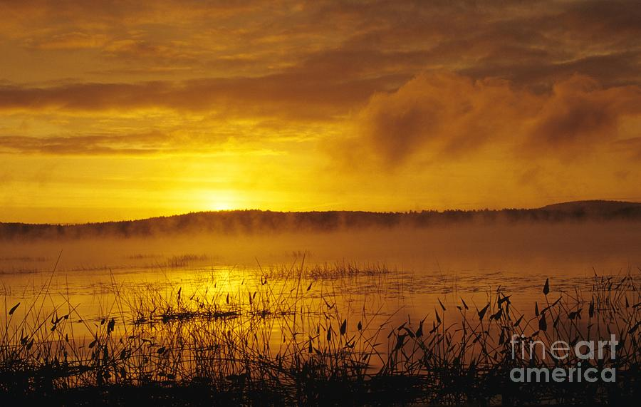 Sunrise Photograph - Lake Massabesic - Auburn New Hampshire Usa by Erin Paul Donovan